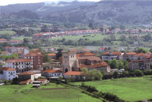 Paisaje casa rural Arribeiti-Zarra en Bizkaia