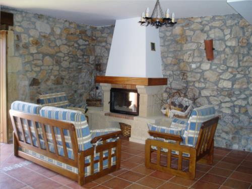 living room country house erdikoetxe in Bizkaia