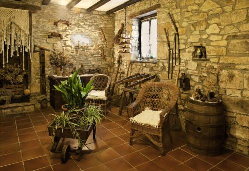 interior casa rural Anduri Baserria en Gipuzkoa