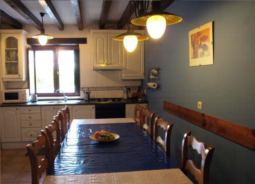 Cocina casa rural Andutza en Bizkaia