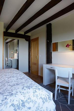 Habitación doble 1 casa rural Andutza en Bizkaia