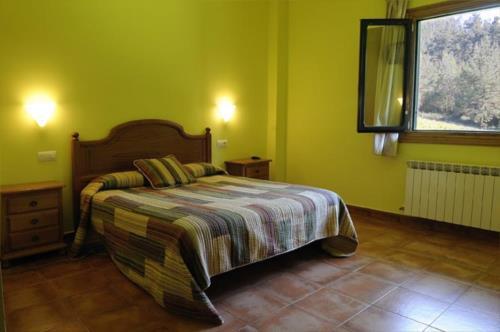 habitación doble 2 agroturismo orubixe en Vizcaya