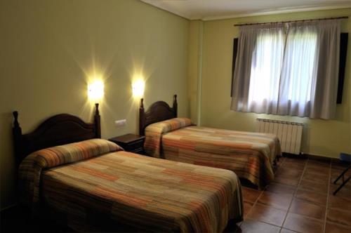 habitación doble agroturismo orubixe en Vizcaya