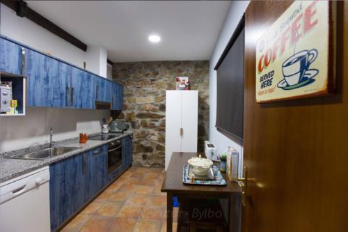 kitchen country house irigoien in Gipuzkoa