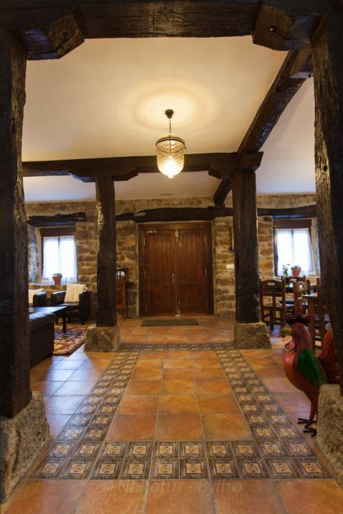 inside country house irigoien in Gipuzkoa