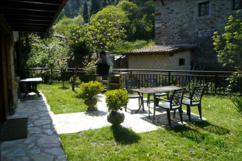 terraza cara rural angoitia en Vizcaya