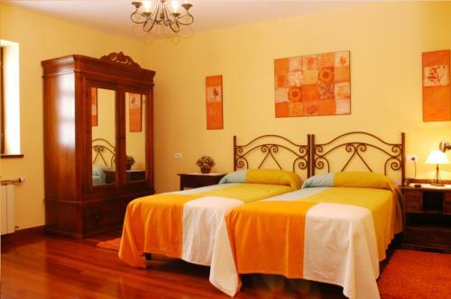 habitación doble 1 casa rural kurtxia en Vizcaya
