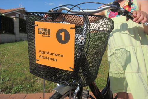 bicicleta agroturismo abaienea en Alava
