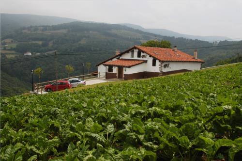 paisaje casa rural aterbe en gipuzkoa