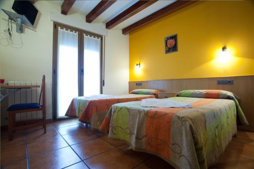 habitación doble 5 agroturismo Enbutegi en Gipuzkoa