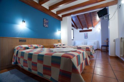 habitación doble 2 agroturismo Enbutegi en Gipuzkoa