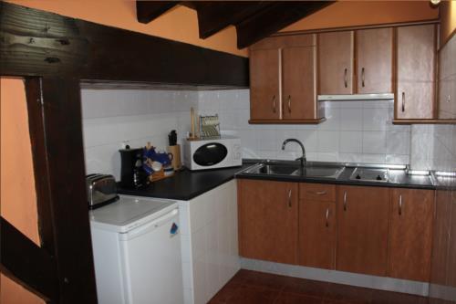 cocina apartamento agroturismo etxano en Vizcaya