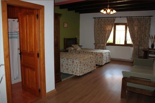 habitación doble 1 agroturismo etxano en Vizcaya