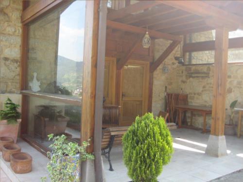 terraza casa rural patxi errege en Vizcaya