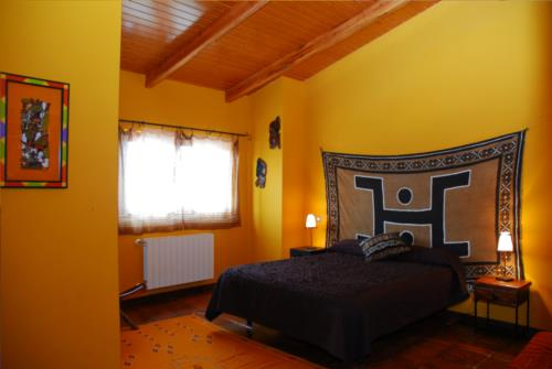 habitación doble casa rural gailurretan en Vizcaya