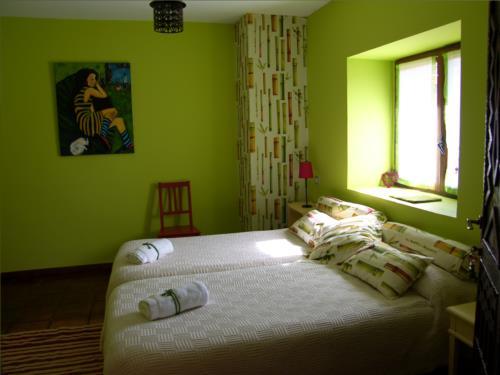 habitación doble 1 casa rural gailurretan en Vizcaya