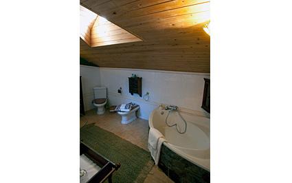 Baño 1 agroturismo Bisalde en Bizkaia