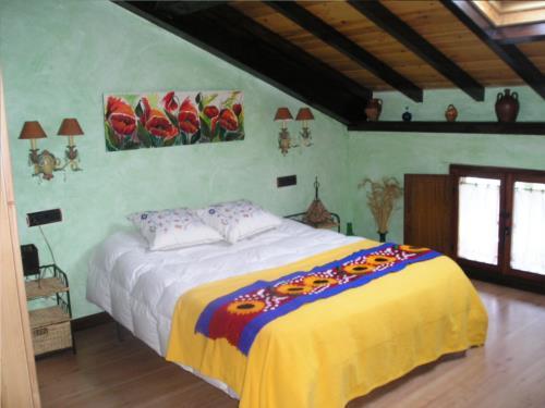 habitación doble casa rural arbaieta etxea en Alava