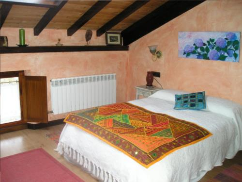 habitación doble 1 casa rural arbaieta etxea en Alava