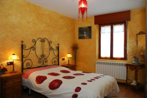 habitación doble 2 casa rural arbaieta etxea en Alava