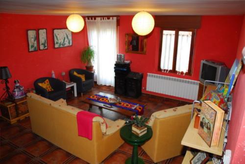 salón 2 casa rural arbaieta etxea en Alava