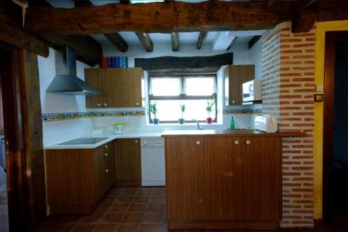 cocina casa rural Zadorra etxea en Alava