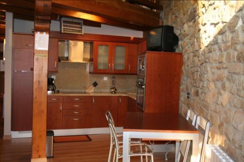 cocina casa rural oka en Vizcaya