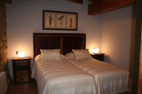 habitación doble casa rural oka en Vizcaya