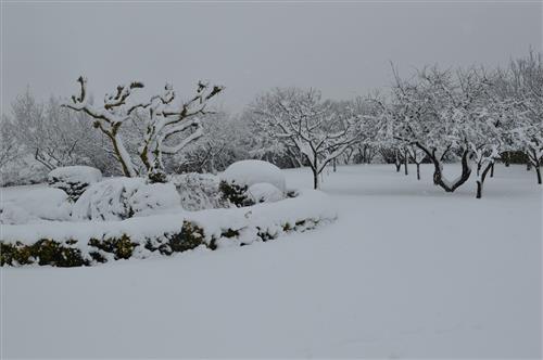 Entorno casa rural Legaire nevado