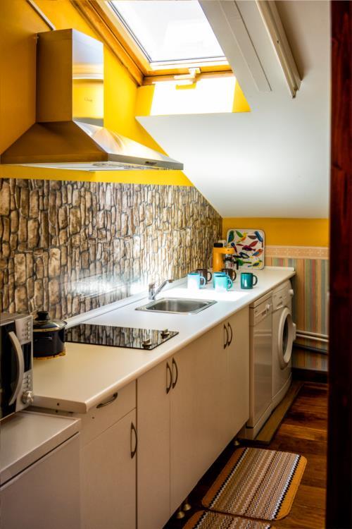 cocina apartamento agroturismo larraxko en gipuzkoa