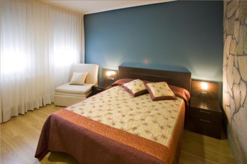 habitación doble agroturismo Madarian en Bizkaia