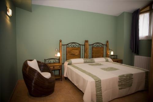 habitación doble casa rural Eguzkilore en Bizkaia