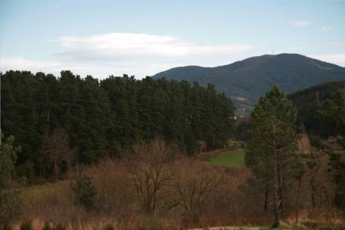 paisaje casa rural Eguzkilore en Bizkaia