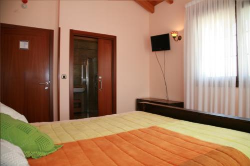 habitación doble casa rural Telleri en Bizkaia