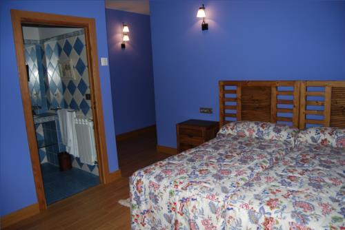 habitación doble 1 agroturismo Olagi en Gipuzkoa