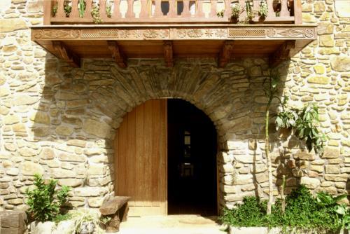 entrada agroturismo garai en Vizcaya