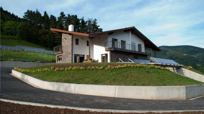 fachada casa rural teileri en gipuzkoa
