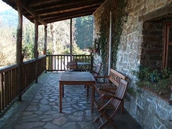 terrace farm house amalau in Bizkaia