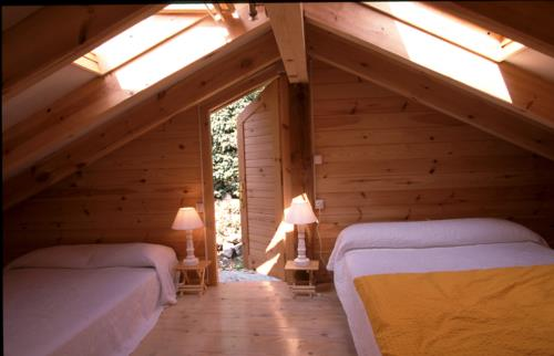 habitación doble casa rural Ugalde Barri en Bizkaia