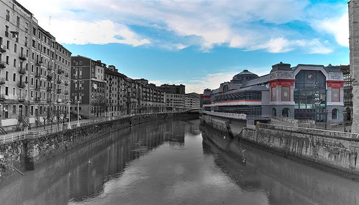 Mercado de la Ribera en Bilbao.