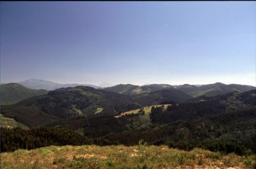 Paisaje agroturismo Iturbe en Bizkaia