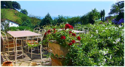 terraza agroturismo txerturi goikoa en gipuzkoa