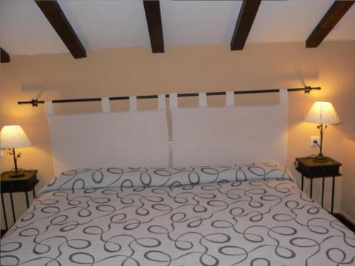 habitación doble casa rural Ozollo en Bizkaia
