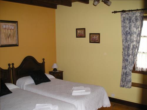 habitación doble casa rural Matsa en Bizkaia