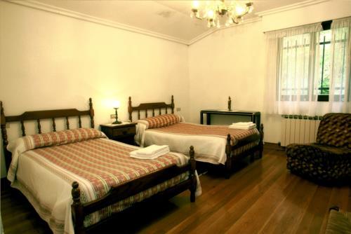 habitación doble casa rural trabaku goiko en Vizcaya