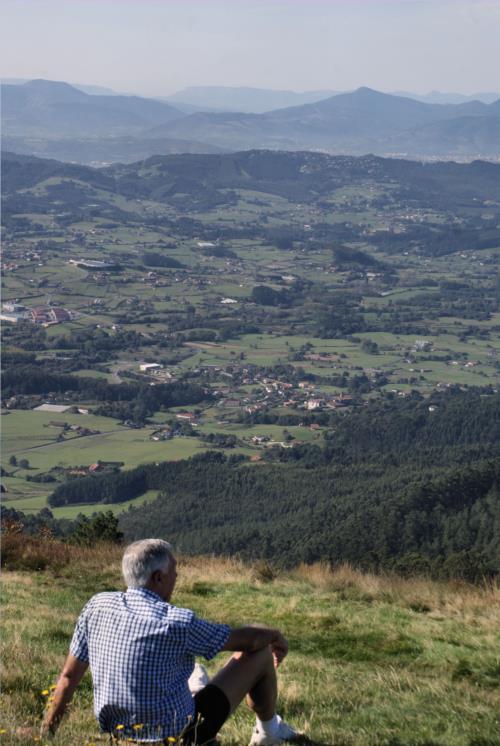 paisaje 4 agroturismo Caserío Garaizar en Bizkaia