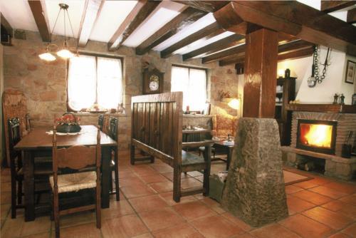 Comedor casa rural Gane en Bizkaia