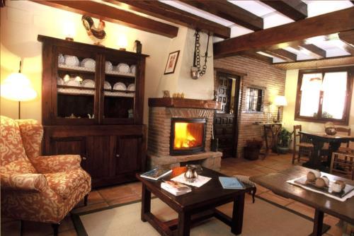 Sala casa rural Gane en Bizkaia