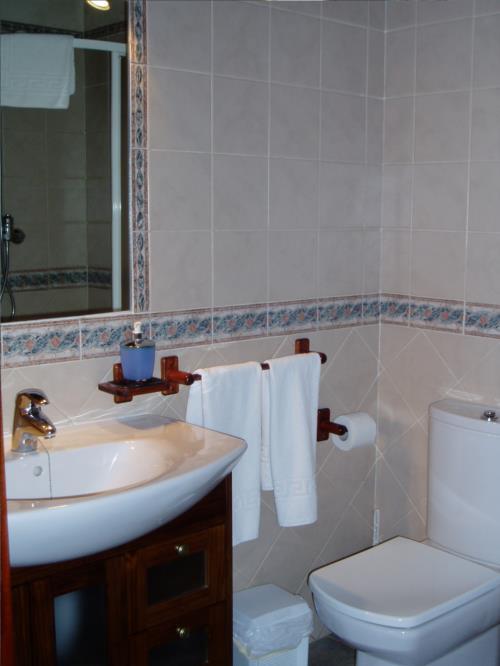 Baño casa rural Erdikoetxe en Bizkaia