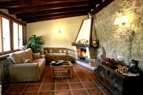 living room farm house aristieta in Bizkaia